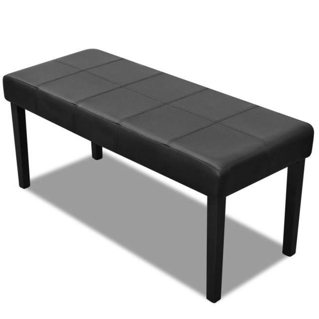 Vidaxl Banc en cuir synthétique de haute qualité Noir   Noir