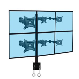 kimex support de bureau 6 crans pc 13 39 39 20 39 39 fixation bord de table pas cher achat vente. Black Bedroom Furniture Sets. Home Design Ideas
