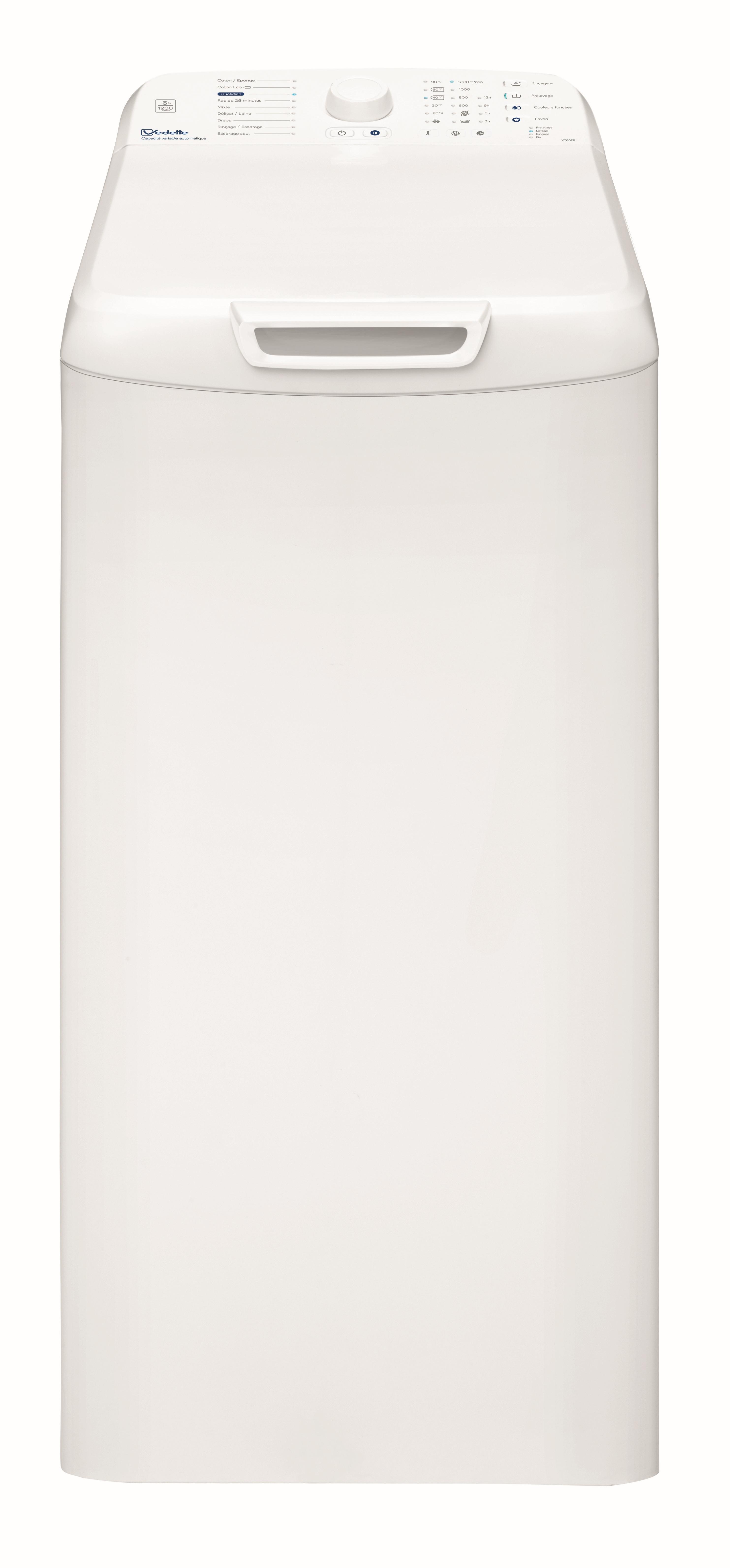 Lave-linge top VT602B