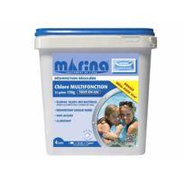 MARINA - Chlore 4 actions galets 135 g pour piscine 10 m³ - 4,32 kg