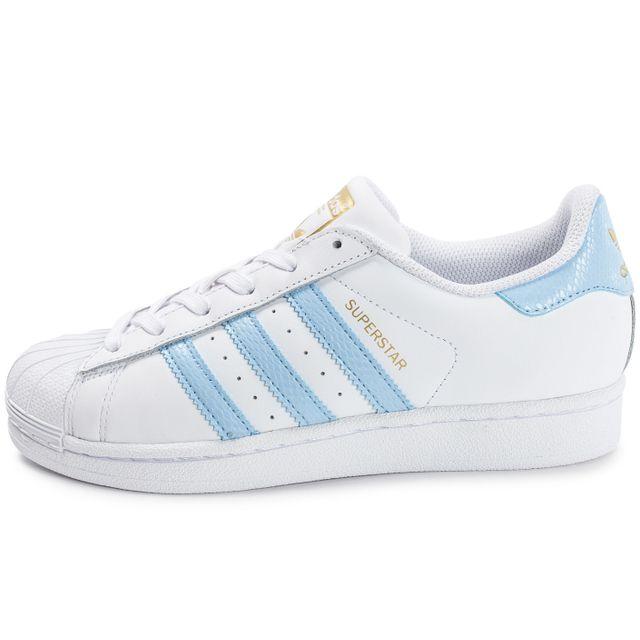 adidas blanche et bleu femme