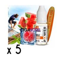 Flavour Power - Lot 5 e-liquides Bells Beach 50/50 10ml 06mg - soit 4,90 euros le flacon 10ml