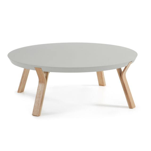 Kavehome Table basse Dilos, frene et gris