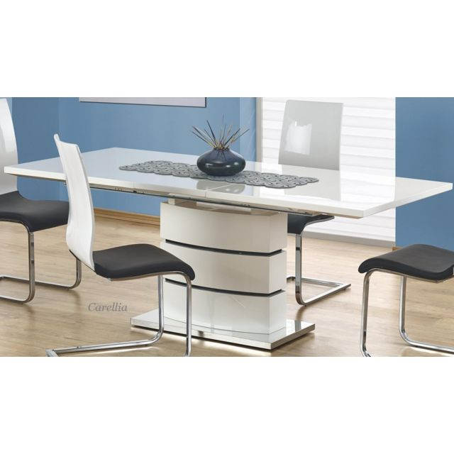 Carellia Table A Manger Extensible Design 160÷200/90/75 Cm - Blanc