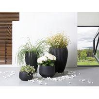 Beliani - Cache-pot - Accessoir de jardin - 30x30x19 cm - Noir - Corrib