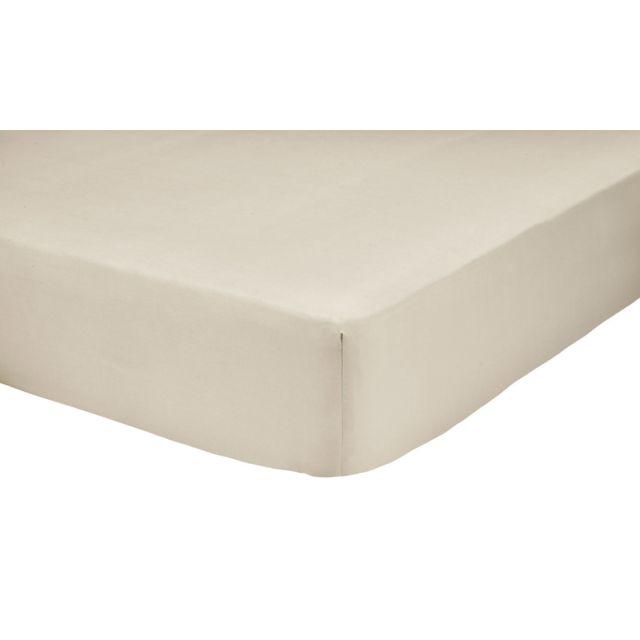 tex home drap housse en percale de coton durable beige fonc 140cm x 200cm pas cher achat. Black Bedroom Furniture Sets. Home Design Ideas