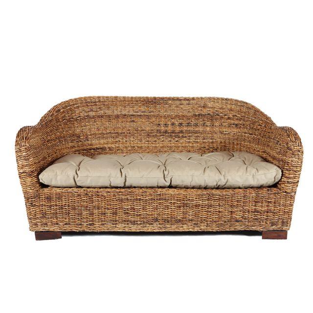 Rotin-design Soldes: -38% Canapé d'intérieur Azur en abaca tressé - Rotin Design