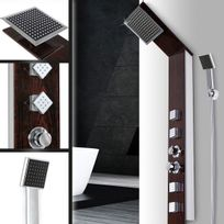 Aquamarin - Set de colonne de douche effet boisé