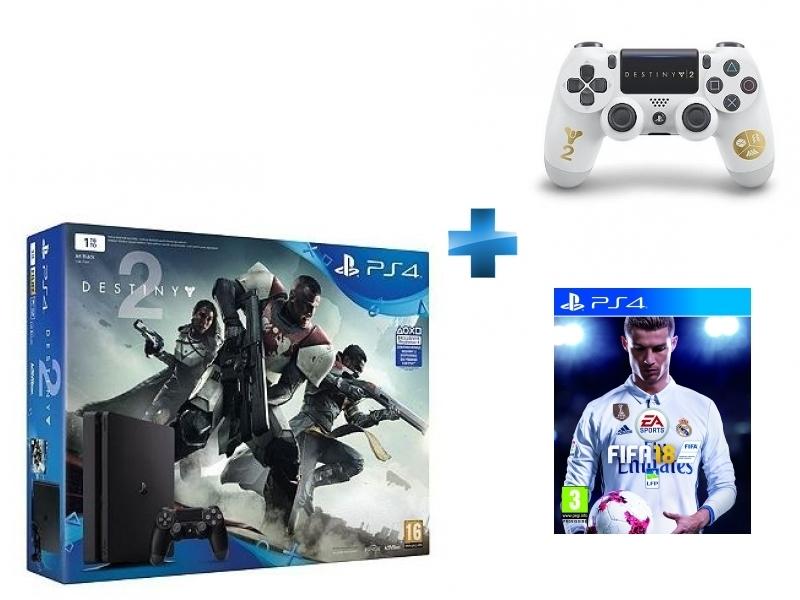 Pack PS4 1 To Black + Destiny 2 + Dual Shock Destiny 2 - PS4 + FIFA 18 - PS4