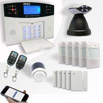 EMATRONIC - Alarme kit mixte sans-fil et filaire Gsm et caméra Ip motorisée - Al01C Premium - Pour 4 ou 5 pièces