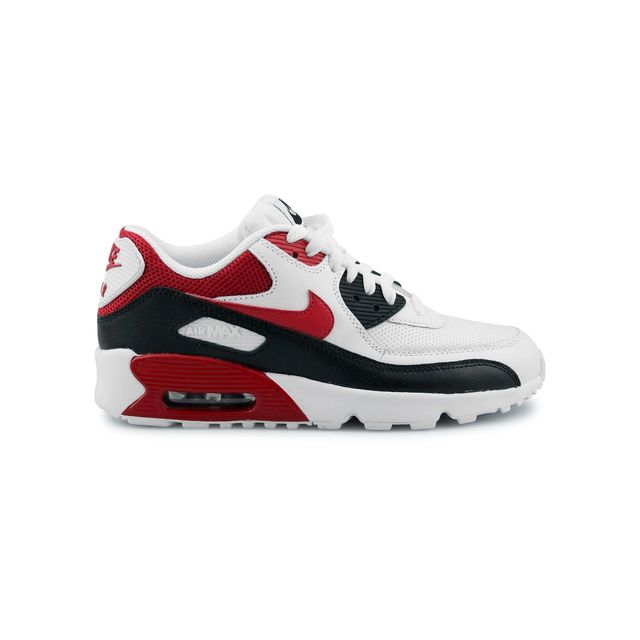 outlet store b3ad3 ee78b Nike - Air Max 90 Mesh Junior Blanc 833418-107 37 1 2 - pas cher Achat    Vente Baskets enfant - RueDuCommerce