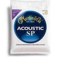 Martin - Sp 3050 - Jeu de cordes Guitare acoustique Bronze Custom Light