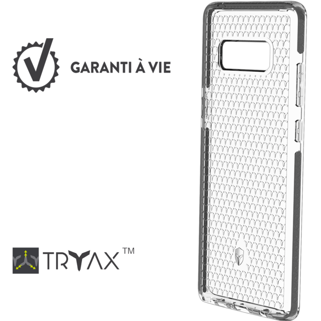 new products 08810 211d0 Life case Galaxy Note 8 - Gris foncé
