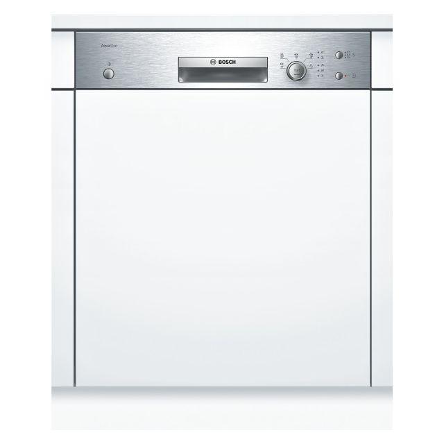 Bosch lave-vaisselle 60cm 12 couverts a+ intégrable avec bandeau apparent inox - smi50d35eu