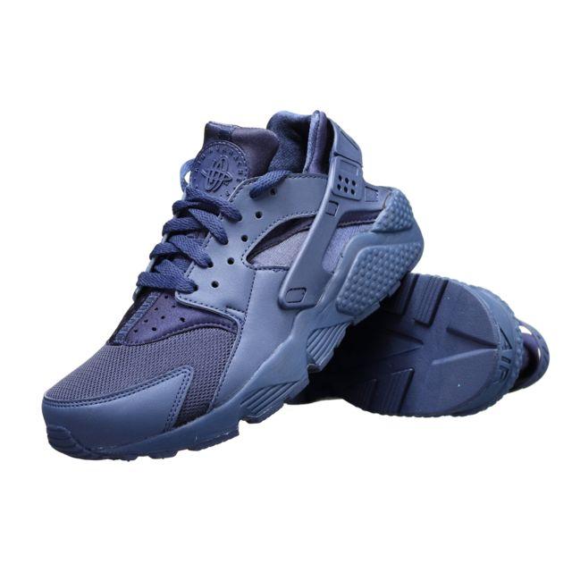 big sale f948c e1b42 Nike - Basket Air Huarache 318429 - 440 Marine - pas cher Achat   Vente  Baskets homme - RueDuCommerce