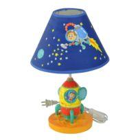 FANTASY FIELDS - Lampe à poser chevet commode bureau pour chambre enfant ou bébé garçon bleu TD-12335AE