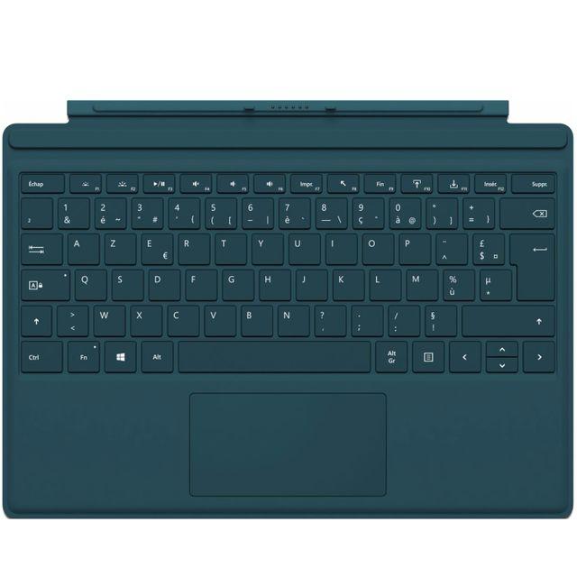 microsoft clavier tablette type cover surface pro 4 teal pas cher achat vente clavier. Black Bedroom Furniture Sets. Home Design Ideas