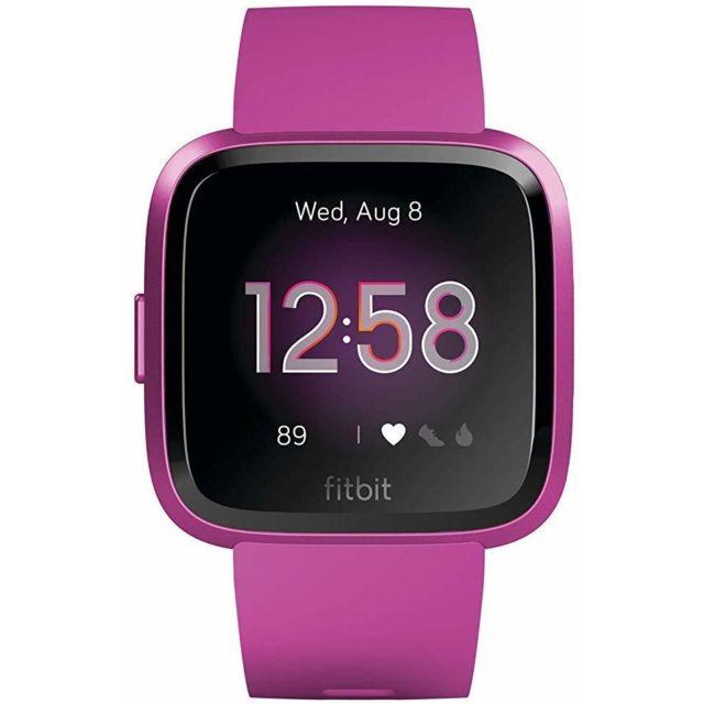 Fitbit Montre connectée Versa Lite Health & Fitness avec fréquence cardiaque, batterie 4+ jours et résistance à l'eau - Mulberr