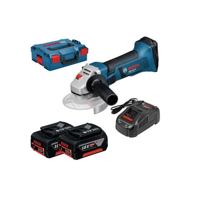 6fa49a99367230 Bosch - Meuleuse d angle 18V GWS 18-125 V-LI 5,0 Ah avec 2 batteries ...