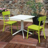 Hespéride - Salon de jardin Terrasse Ajaccio Vert - pas cher Achat ...
