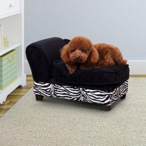 soldes pawhut m ridienne canap design pour chien chat avec coffre de rangement sur pied 57 x. Black Bedroom Furniture Sets. Home Design Ideas