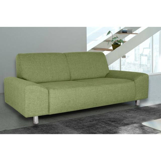 Rocambolesk Canapé Quick 3 savana 08 vert+pieds chrom sofa divan
