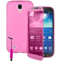 Vcomp - Housse Etui Coque silicone gel Portefeuille Livre rabat pour Samsung Galaxy S4 Active I9295/ I537 Lte + mini stylet - Rose