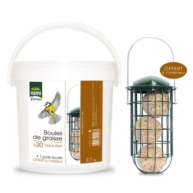d67ccee13989d Hamiform - Boules de graisse avec porte-boules - pas cher Achat   Vente  Alimentation pour oiseaux du ciel - RueDuCommerce
