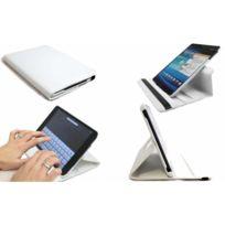 Wellkom - Housse de protection Galaxy Tab 4 - 10.1 pouces en Cuir Blanc