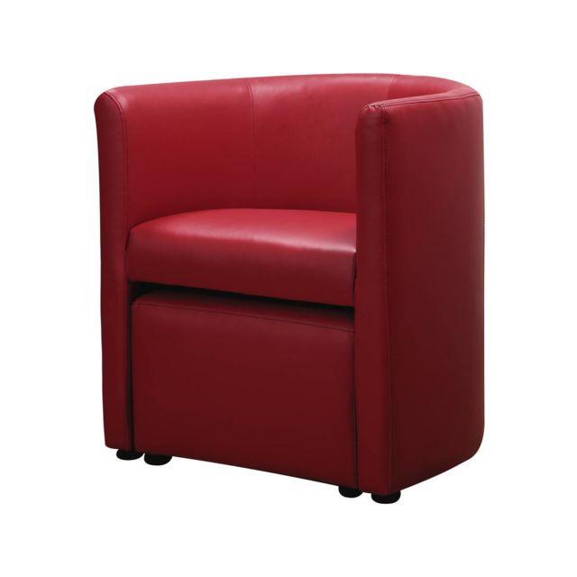 HABITAT ET JARDIN Fauteuil Basma 65 x 55 x 71 cm Rouge