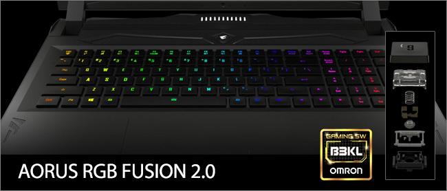 Aorus 15 - Clavier RGB Fusion 2.0