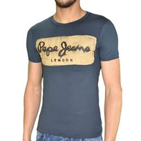 Pepe Jeans - T Shirt Manches Courtes - Homme - Charing - Slim Fit - Navy