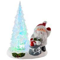 Provence Outillage - Père Noël avec arbre à Led