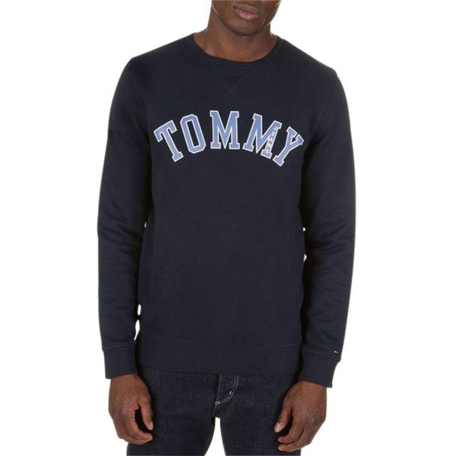 31989db66be Tommy hilfiger - Sweat avec inscription Tommy - pas cher Achat   Vente  Sweat homme - RueDuCommerce