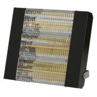 SOVELOR - Chauffage radiant infrarouge électrique IPX5 halogènes à quartz. Epoxy Noir - IRC4500CN