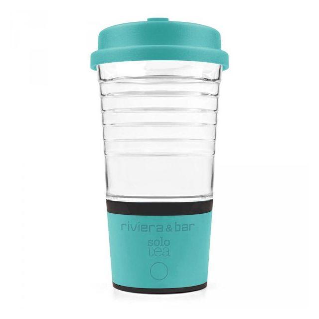 RIVIERA & BAR mug à thé automatique 45cl bleu turquoise - bt123a