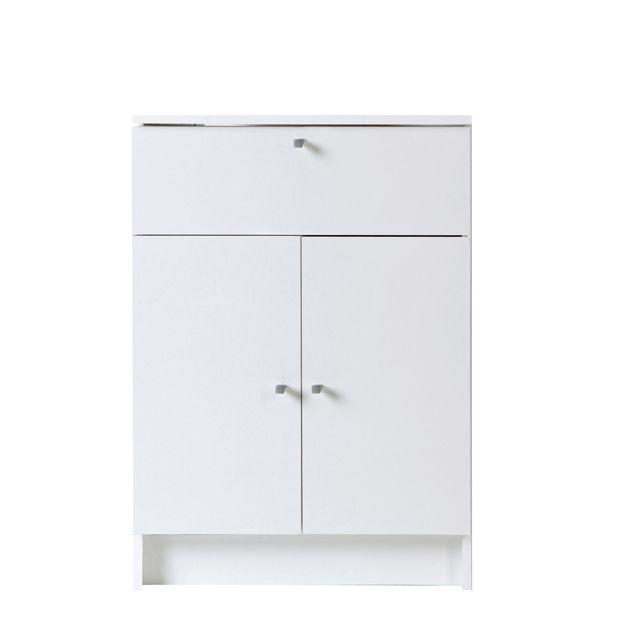 Last Meubles Élément de salle de bain équipé de 2 portes, d'un tiroir et d'un rayon