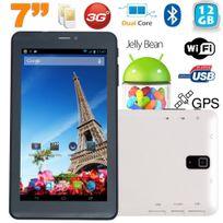 Yonis - Tablette tactile 3G 7 pouces Dual Sim Android 4.2 Dual Core Blanc 12Go