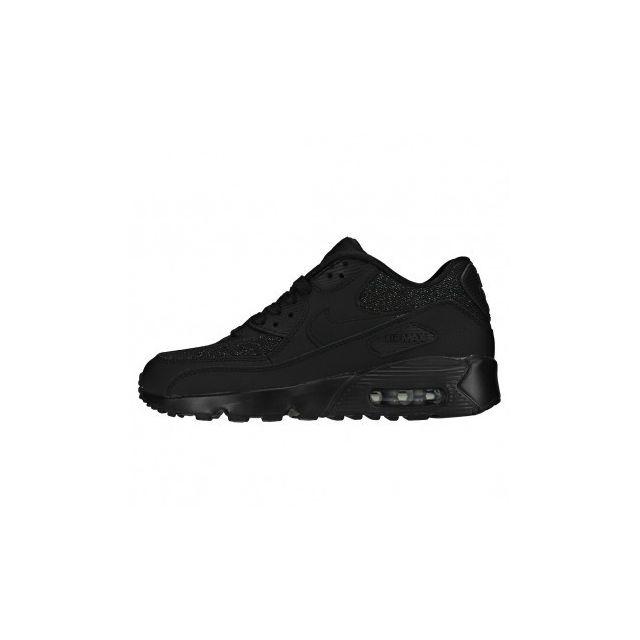 big sale 976fe e67e4 Nike - Air Max 90 Se Mesh GS 880305-002 - Age - Adolescent, Couleur - Noir,  Genre - Mixte, Taille - 36 - pas cher Achat   Vente Chaussures basket - ...