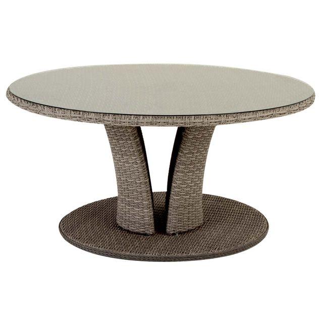 HESPERIDE Table de jardin ronde Libertad 8 places - Hespéride