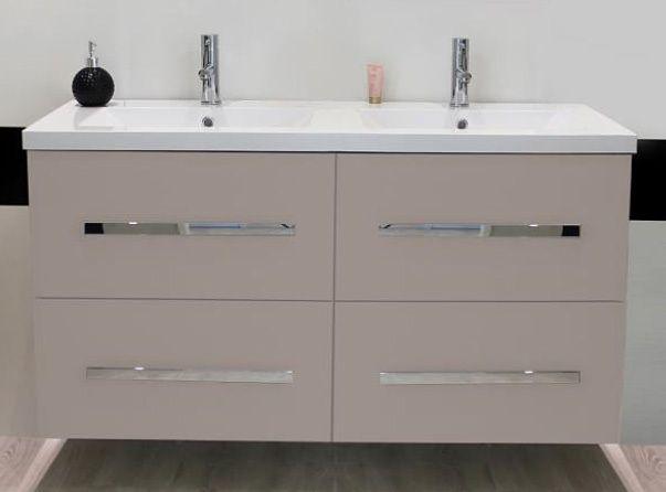 evidence meuble suspendre 120 cm novello taupe double vasque pas cher achat vente. Black Bedroom Furniture Sets. Home Design Ideas