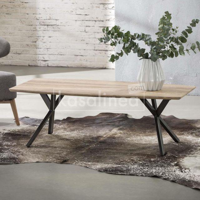 Kasalinea Table basse moderne couleur bois Tiago