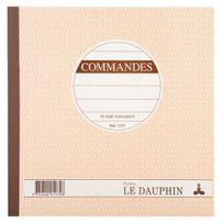 Le Dauphin - Cahier de facture Manifold autocopiant A4 50 pages double exemplaires