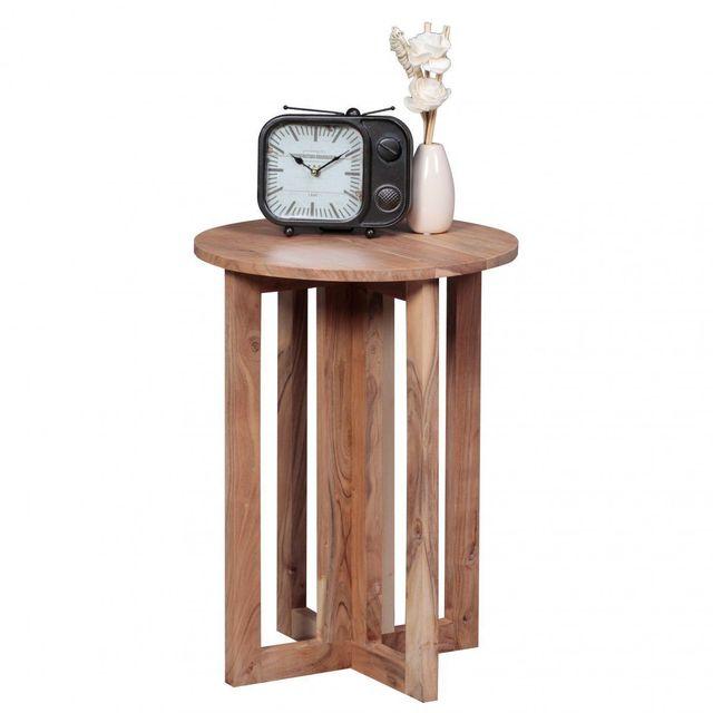 Table de chevet contemporaine 45x45 cm en bois massif