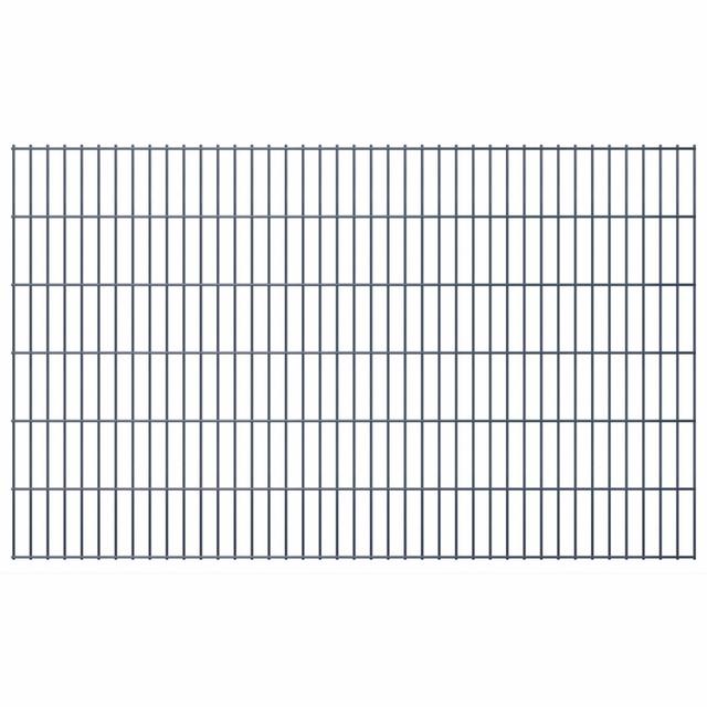 Vidaxl Panneaux de clôture 2D pour jardin 2008x1230 mm 46 m gris