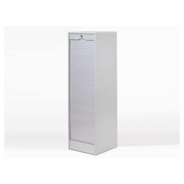 marque generique - armoire de bureau à rideau en bois avec serrure