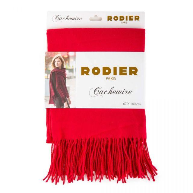 Rodier - Echarpe cachemire Rose 180cm x 67cm Femme Rouge - pas cher Achat    Vente Echarpes, foulards - RueDuCommerce e09a6af3adf