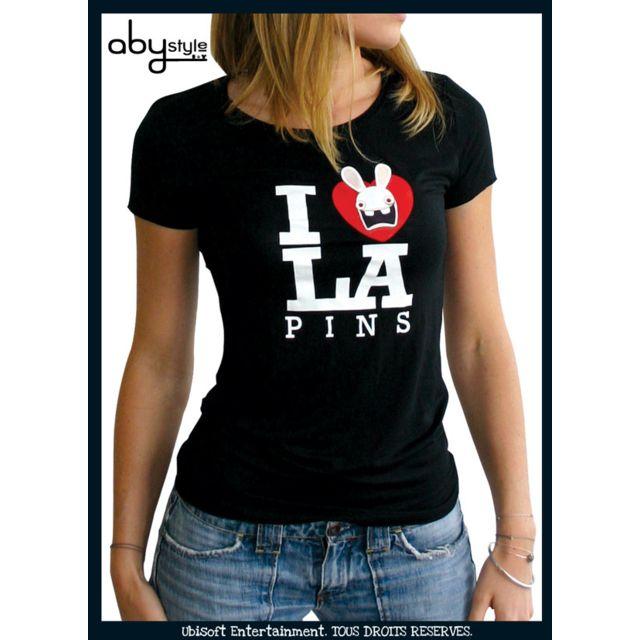 cher Lapins basic Abystyle Cretins Femme T pas Noir Achat shirt 8xqwTaqS
