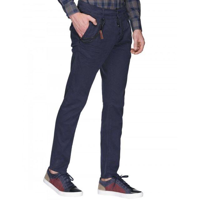 96c3a5d54e6 Antony Morato - Pantalon Carrot Havel Fa850100 Bleu Marine - pas cher Achat    Vente Pantalon homme - RueDuCommerce