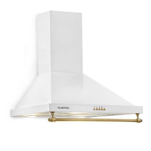 KLARSTEIN Montblanc 60 Hotte aspirante 610 m³/h 165 W 2 x 1,5 W LED avec rambarde - blanc